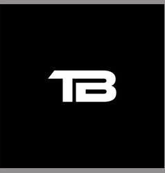 T b letter logo abstract design on black color vector