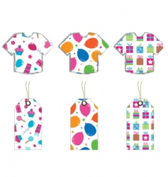 T- shirts and tags vector