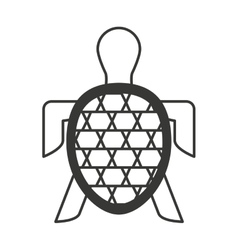 Turtle animal isolated icon vector