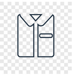 Uniform concept linear icon isolated on vector