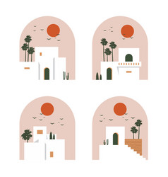 urban house logo summer home vibes design poster vector image
