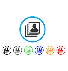 User accounts rounded icon vector