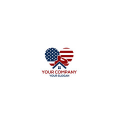 Veteran elite house logo design vector