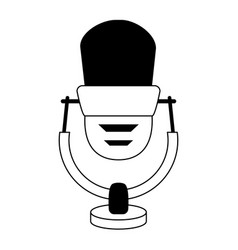 Vintage microphone icon image vector