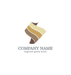 wave abstract business logo design vector image