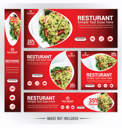 Web banner set for restaurant vector