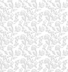 White Floral Wallpaper vector