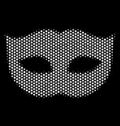 white halftone privacy mask icon vector image
