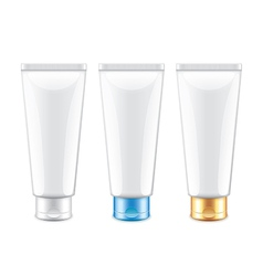 White tube packaging for cosmetics isolated vector image
