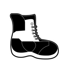 winter boot isolated vector image