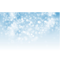winter card with snowflakes vector image