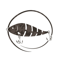 wobbler lure for fish vector image