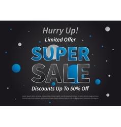 Banner Super Sale horizontal vector image