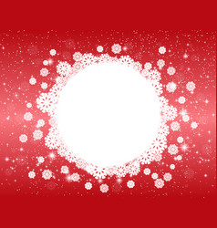 celebratory red christmas design vector image vector image