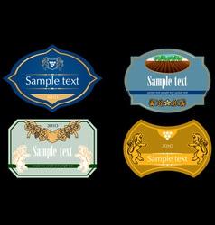 wine labels 02 vector image vector image