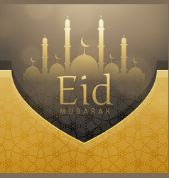 beautiful eid festival greeting card design with vector image vector image
