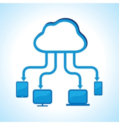 Cloud computing concept stock vector image vector image