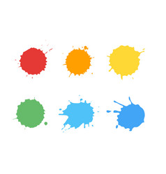 ink splatter set vector image vector image