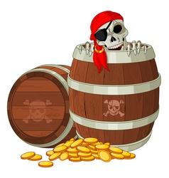 Pirate skeleton vector image