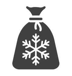 santa bag glyph icon new year and christmas vector image vector image