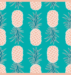 seamless pineapple pattern vector image vector image