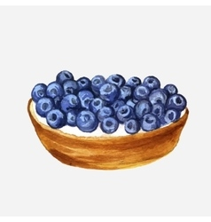 watercolor cake with blueberries vector image vector image