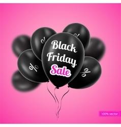 Black Friday Black balloons vector image vector image