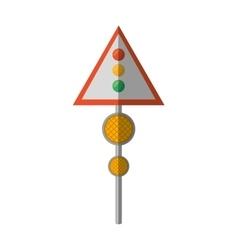 cartoon sign road light traffic vector image