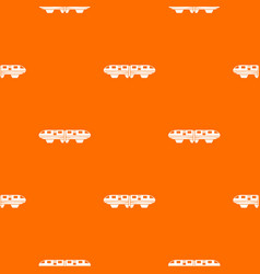 monorail train pattern seamless vector image vector image