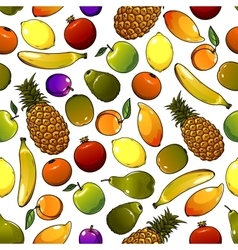 Ripe tropical fruits seamless pattern vector image vector image