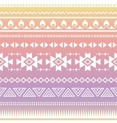 Tribal aztec ombre seamless pattern vector image vector image