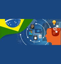 brazil it information technology digital vector image vector image