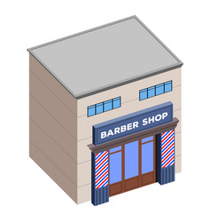 isolated barber shop vector image