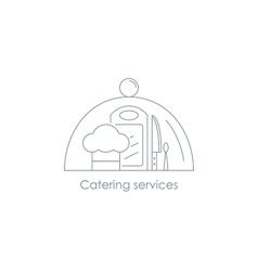 Restorant menu linear icon vector