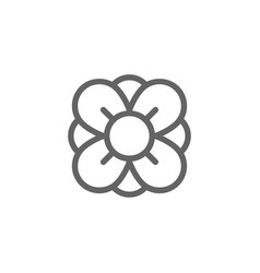 simple flower line icon symbol and sign vector image