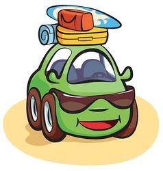 Traveling Car Cartoon vector image vector image