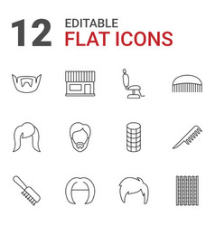 12 haircut icons vector