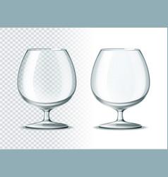 3d brandy cognac whiskey glass goblet vector