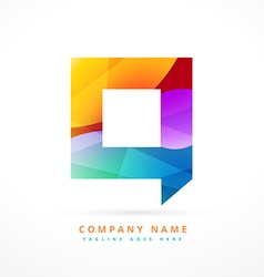 abstract colorful logo chat symbol design vector image