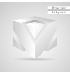 abstract white 3d cube vector image