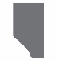 Alberta province silhouette map vector