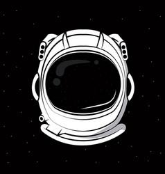 Astronaut helmet print for tshirt vector