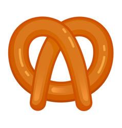 bavarian pretzel icon cartoon style vector image