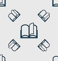 Book sign icon Open book symbol Seamless pattern vector image