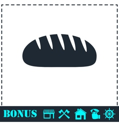 Bread icon flat vector image