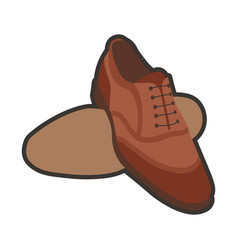 brown classic shoes vector image