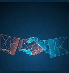 Business shine handshake background vector