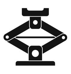 Car jack-screw icon simple style vector