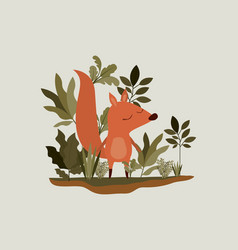 Chipmunk in the forest scene vector