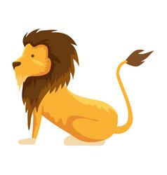 Circus lion domesticated animal vector